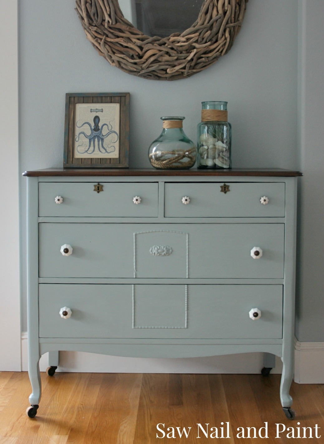 antique dresser in seattle skies saw nail and paint. Black Bedroom Furniture Sets. Home Design Ideas