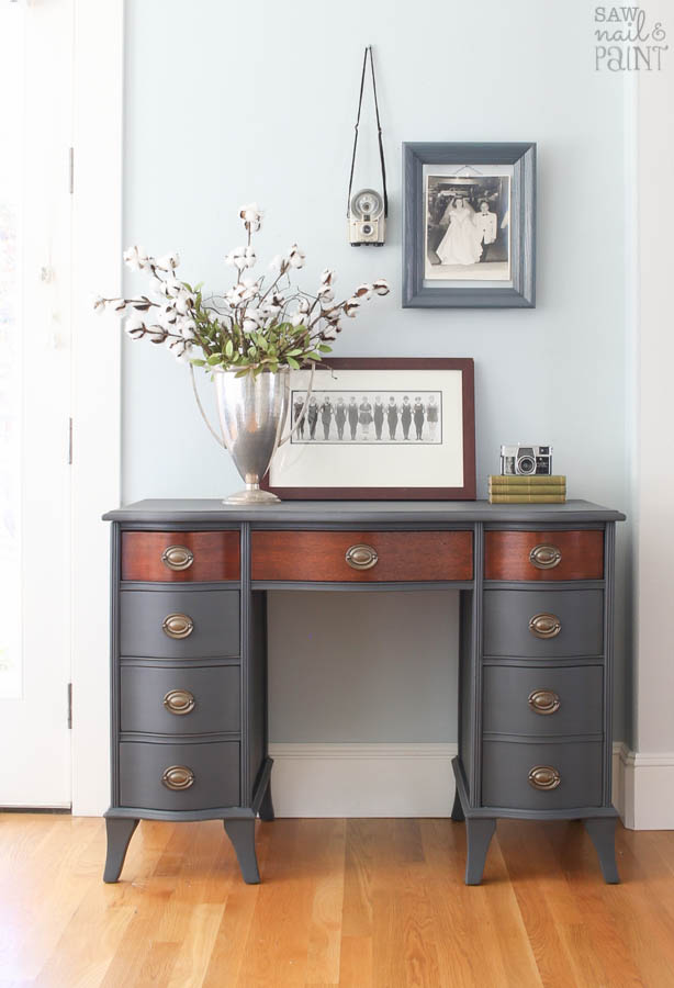 Vintage Desk Makeover With Fusion Mineral Paint Saw Nail