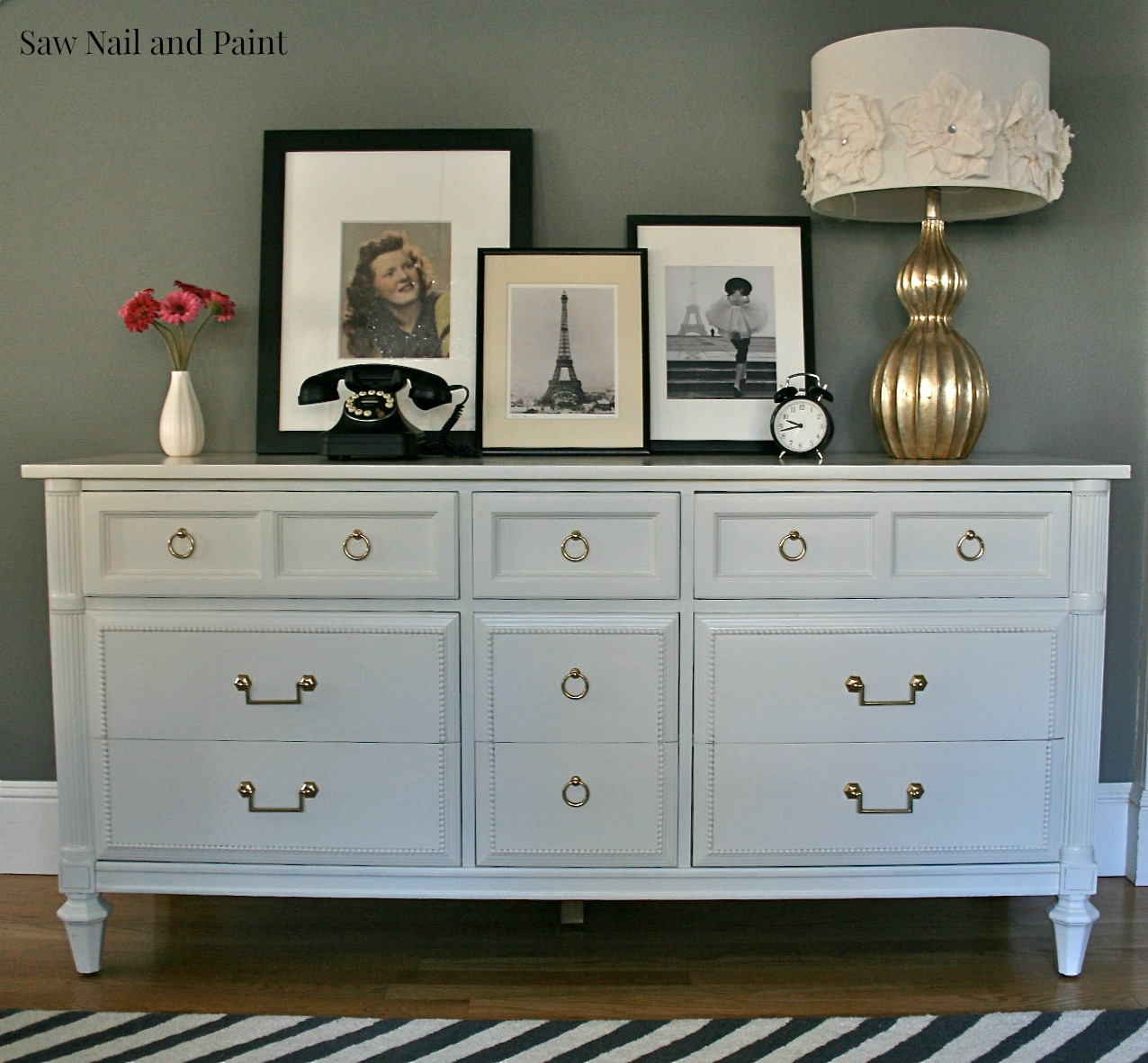 Antique White Thomasville Dresser Saw Nail And Paint