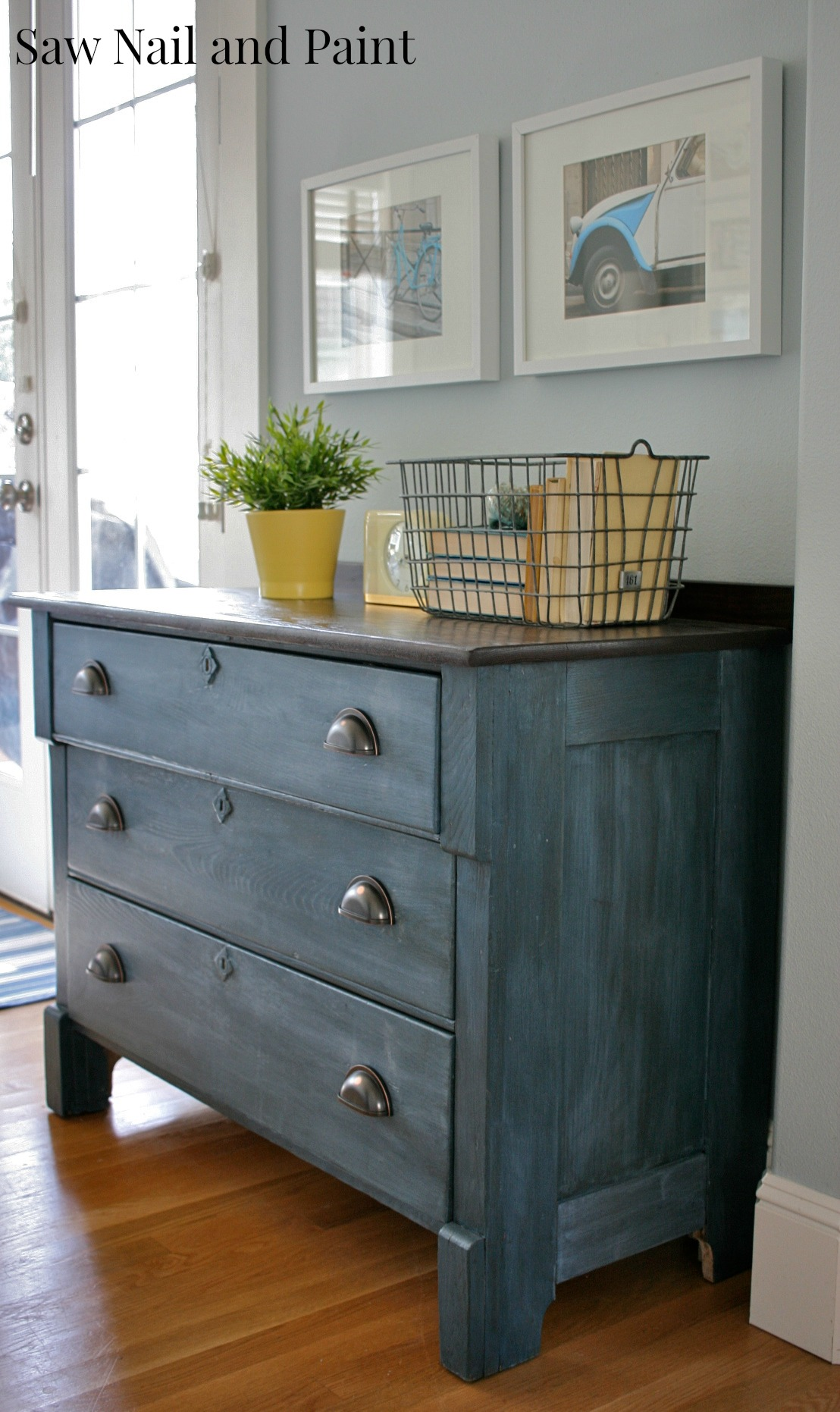 Soldier blue chest a roadside rescue saw nail and paint for Furniture paint colors