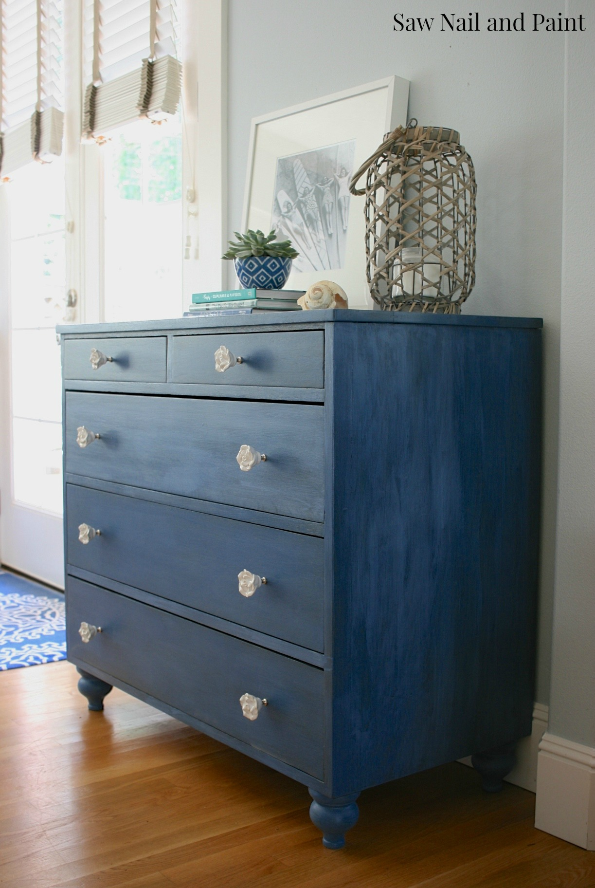 Federal Blue Dresser A Curb Alert Makeover Saw Nail And