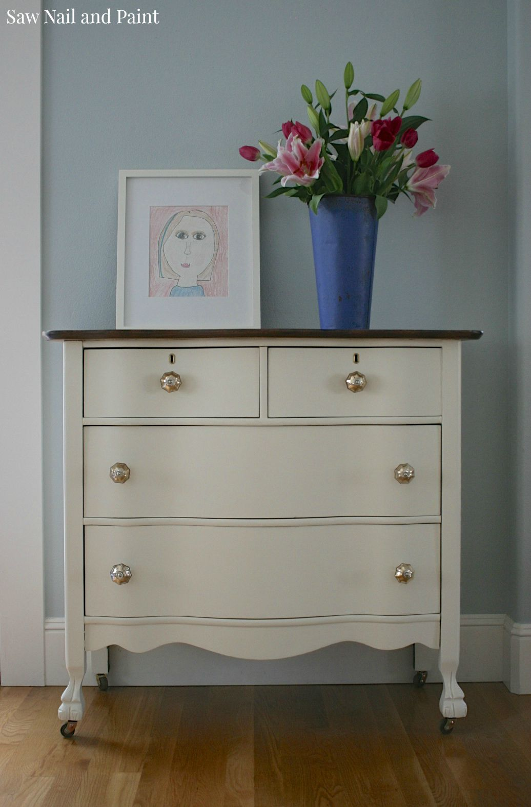 How Much Is A Paint Job >> Serpentine Dresser in Antique White - Saw Nail and Paint