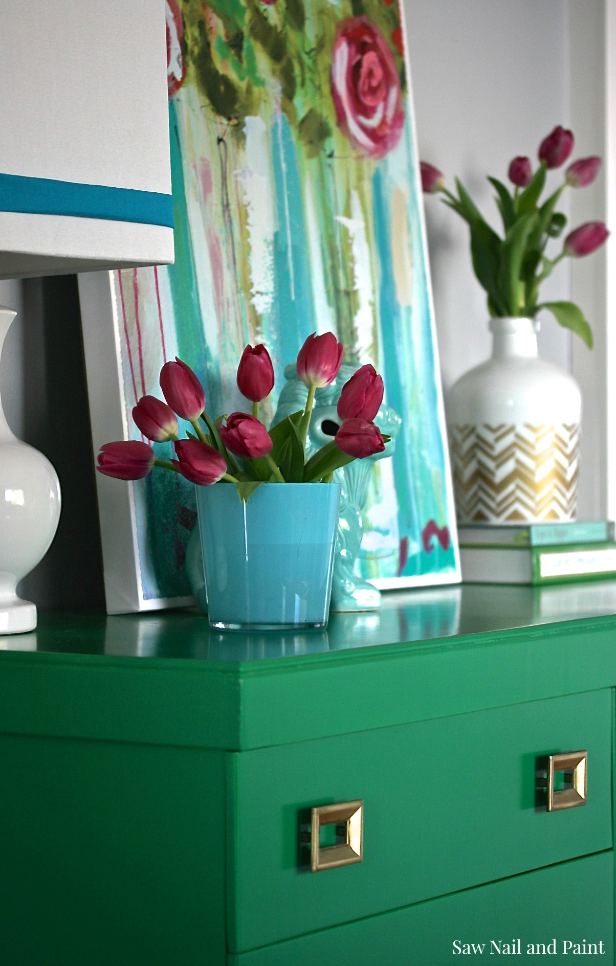 Jade Green Mid Century Dresser Saw Nail And Paint
