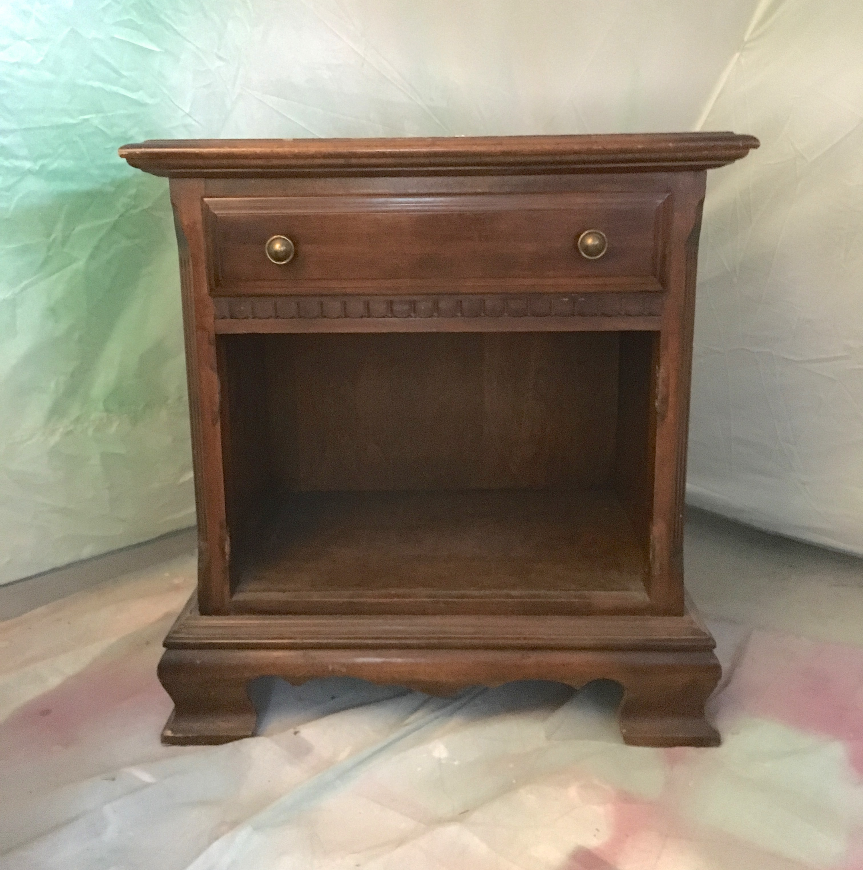 Night Stand Makeover With Old Fashioned Milk Paint Saw Nail And Paint