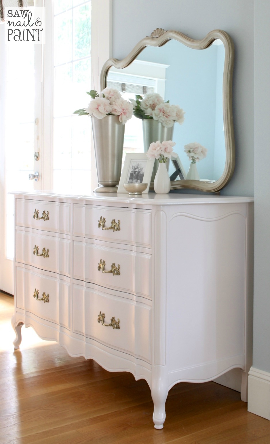 Silky smooth french provincial dresser saw nail and paint - Dresser for small room ...