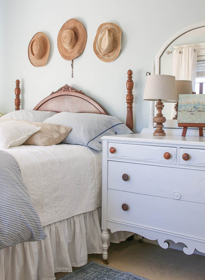 Saw Nail Paint Seattle Cottage Home Tour - Charming Cottage Bedroom with Vintage Antiques Touches