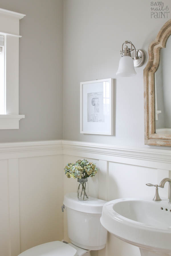Powder Room Cummulus Cloud Walls And Cloud White