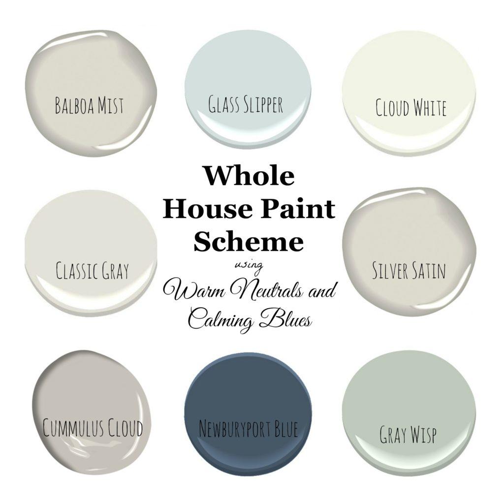 Greige Color Palette: My Home Paint Colors: Warm Neutrals And Calming Blues