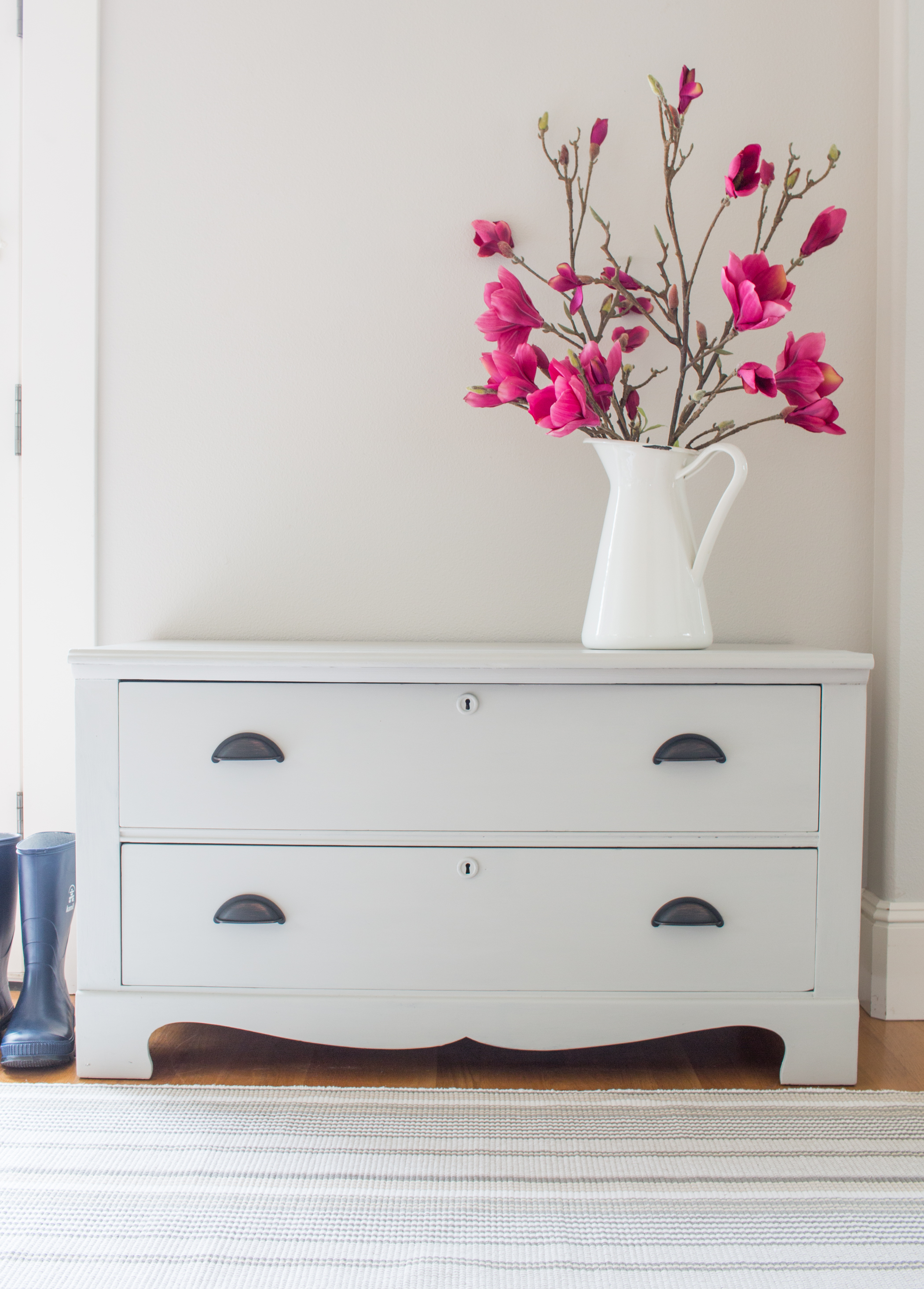 Luxe Grey Vintage Chest Makeover Saw Nail And Paint
