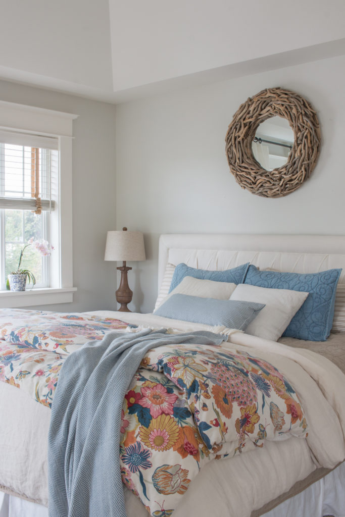 Saw Nail Paint Seattle Cottage Home Tour - Charming Cottage Bedroom with Floral Touches