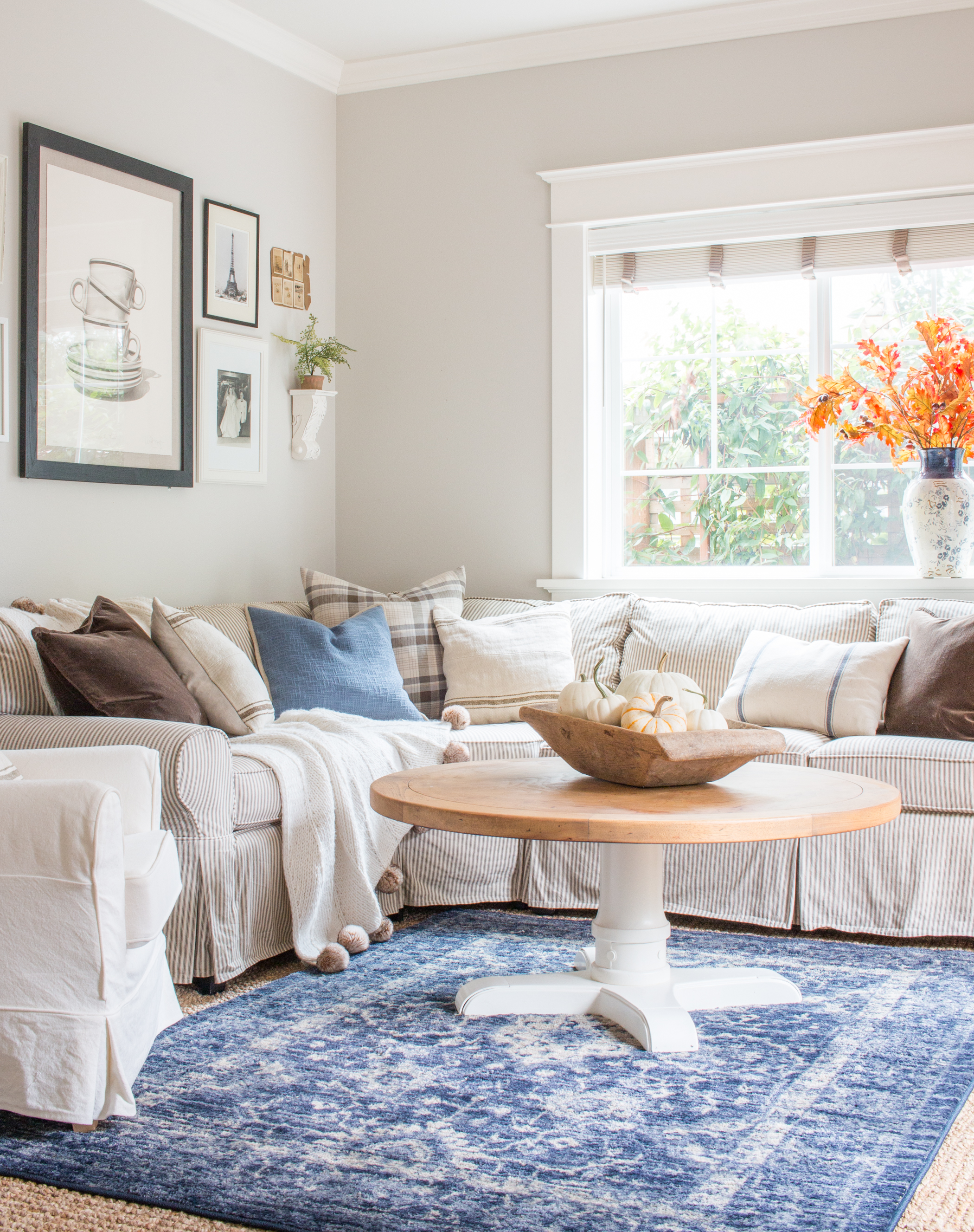 Living Room With Pottery Barn Basic Sectional Saw Nail And Paint